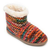 Minnetonka® Betty Small Women's Bootie Slippers in Orange/Red