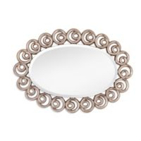 Bassett Mirror Company 31-Inch x 43-Inch Oval Avery Wall Mirror in Silver