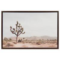 Lone Joshua Tree 24-Inch x 36-Inch Framed Canvas Wall Art