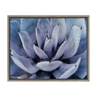 Violet Cactus 18-Inch x 24-Inch Framed Canvas Wall Art