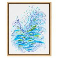 Wave 16-Inch x 20-Inch Framed Canvas Wall Art