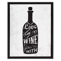My Favorite Wine 16-Inch x 20-Inch Framed Canvas Wall Art