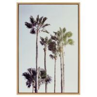 Palm Trees at The Beach 24-Inch x 36-Inch Framed Canvas Wall Art