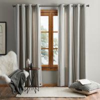 UGG® Lunar Stripe 84-Inch Grommet Window Curtain Panel in Snow/Seal