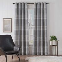 UGG® Terra Plaid 63-Inch Grommet Window Curtain Panel in Snow/Seal