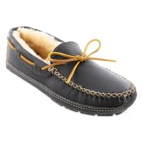 Minnetonka® Moose Size 12 Men's Slipper in Black