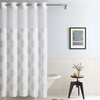 Hookless® Sunburst Fabric 71-Inch x 86-Inch Shower Curtain in Metallic Gold