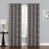 Asheville 108-Inch Grommet Blackout Window Curtain Panel in Grey/White