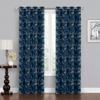 Asheville 95-Inch Grommet Blackout Window Curtain Panel in Navy/White