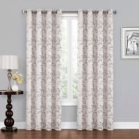 Asheville 108-InchGrommet Blackout Window Curtain Panel in Ivory/Grey