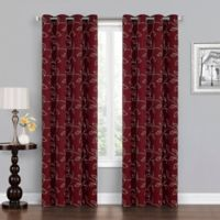 Asheville 95-Inch Grommet Blackout Window Curtain Panel in Burgundy/Linen