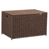 Household Essentials® Large Decorative Wicker Chest Lid Storage & Organization in Coffee