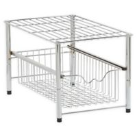 Household Essentials® 10-Inch Free Standing Pullout Basket in Chrome