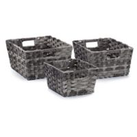 Seville Classics® Hand-woven Storage Baskets in Granite Grey (Set of 3)