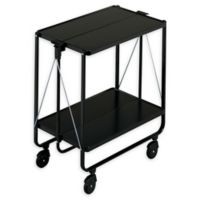 Household Essentials® Foldable Side Car Storage & Service Trolley Cart in Black