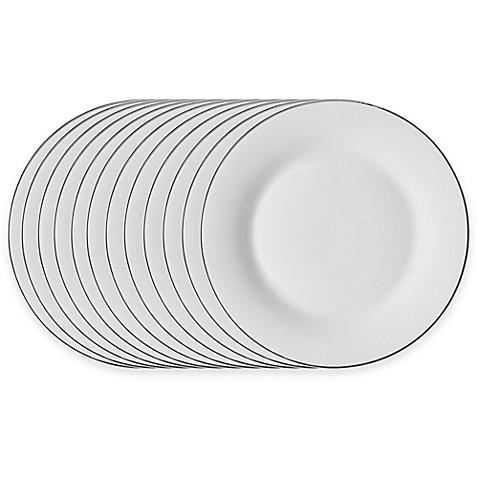 Studio Platinum Porcelain Banded 10-1/2-Inch Dinner Plates (Set of  sc 1 st  Bed Bath \u0026 Beyond & Studio Platinum Porcelain Banded 10-1/2-Inch Dinner Plates (Set of ...
