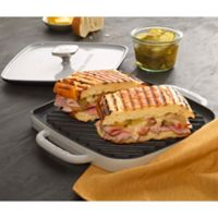 Emeril® 14-Inch Enameled Cast Iron Reversible Grill/Griddle with Press in Grey
