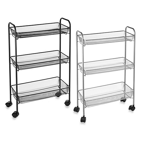 slim bath storage cart bed bath beyond. Black Bedroom Furniture Sets. Home Design Ideas