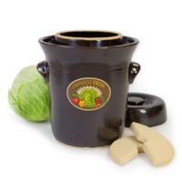 Harvest Fiesta 5-Liter Stoneware Ferementation Crock in Dark Brown