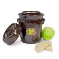 Harvest Fiesta 10-Liter Stoneware Ferementation Crock in Dark Brown