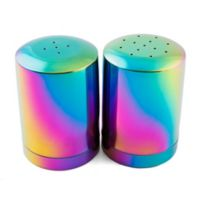 Thirstystone Resources® Metal Salt/Pepper Shakers in Rainbow (2 piece set)