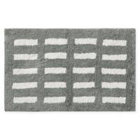 "Madison Park Kagen 21"" x 34"" Reversible Tufted Microfiber Bath Mat in Grey"