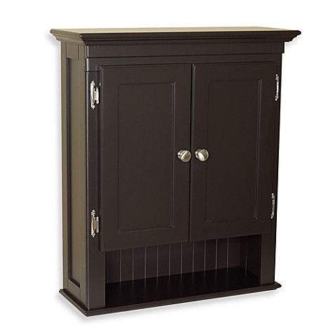 Fairmont wall mounted cabinet in espresso bed bath beyond - Wall mounted bathroom storage units ...