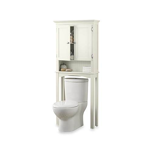 fairmont free standing space saver cabinet in white - Bathroom Cabinets Bed Bath And Beyond