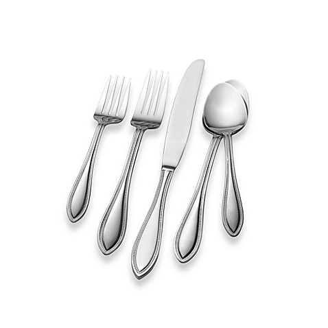 towle living tuscan bead flatware set service for 12