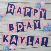 Write Your Own Personalized Birthday Bunting Banner