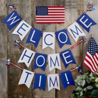 Write Your Own Personalized Welcome Home Bunting Banner