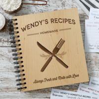 Wood Recipe Box in Brown