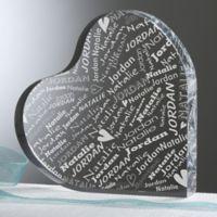 Couple In Love Personalized Heart Keepsake