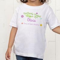 Perfectly Picked Flower Girl Personalized Toddler T-Shirt