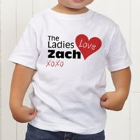 The Ladies Love Me Personalized Toddler T-Shirt