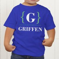 Name Bracket Personalized Toddler T-Shirt