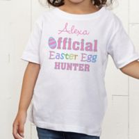 Official Egg Hunter Personalized Toddler T-Shirt