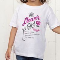 The Flower Girl Personalized Toddler T-Shirt