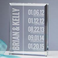 Milestone Personalized Paperweight Keepsake