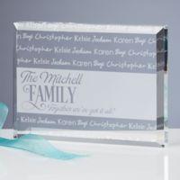 Family Is Love Engraved Keepsake