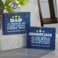 Best Dad Personalized Colored Keepsake