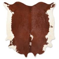 Mina Victory Couture Cowhide 5' x 7' Area Rug in Brown/White