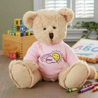 Get Well Personalized Baby Teddy Bear- Pink