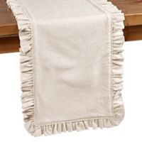 Bee & Willow™ Home Ruffle Edge 90-Inch Table Runner in Natural