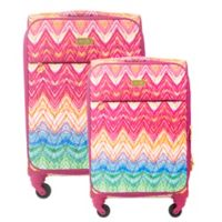 Macbeth Collection® by Margaret Josephs Chevron 2-Piece Spinner Checked Luggage Set