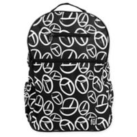 ful® Accra Fashion Laptop Backpack in Black/White