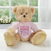 All About Baby Personalized Teddy Bear For Baby Girl- Pink