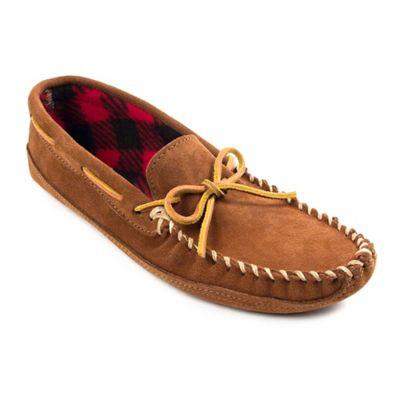 c9344902429 Minnetonka® Double Bottom Fleece Size 7 Men's Slipper in Brown