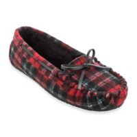 Minnetonka® Cally Plaid Size 5 Women's Slippers in Red