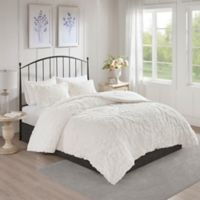 Madison Park Viola Full/Queen Coverlet Set in White